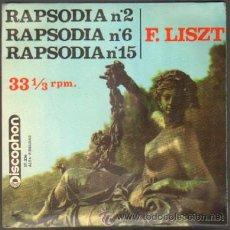 Discos de vinilo: F. LISZT. RAPSODIA HUNGARA Nº 2, Nº 6 Y Nº 15 RF-6206. Lote 35520225