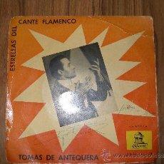 Discos de vinilo: TOMÁS DE ANTEQUERA - ACOMPAÑADO A LA GUITARRA POR PAQUITO SIMON, SELLO ODEON. Lote 35535310