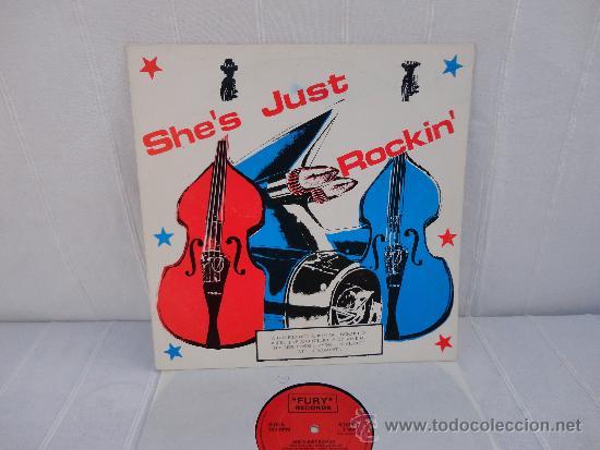 SHE´S JUST ROCKIN´ VARIOS ROCKABILLY U.K. FURY RECORDS 1987 (Música - Discos - LP Vinilo - Rock & Roll)