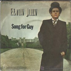 Discos de vinilo: ELTON JOHN - SONG FOR GUY / LOVESICK - SINGLE FONOGRAM 1979. Lote 35550143
