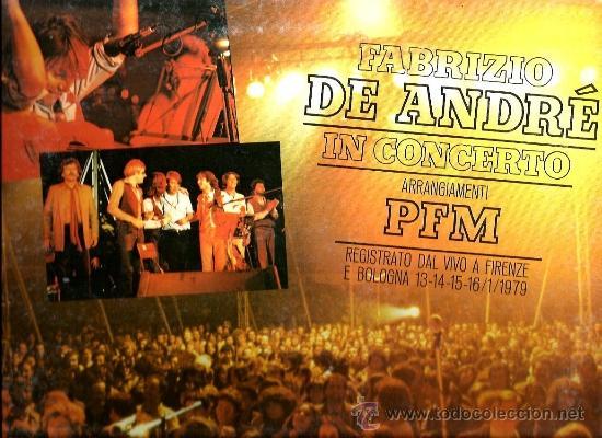 LP FABRIZIO DE ANDRE IN CONCERTO ( CON PFM - PREMIATA FORNERIA MARCONI ) (Música - Discos - LP Vinilo - Canción Francesa e Italiana)