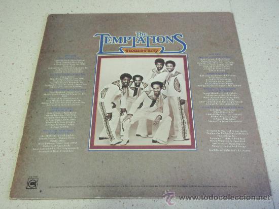 Discos de vinilo: THE TEMPTATIONS ( HOUSE PARTY ) USA - 1975 LP33 MOTOWN RECORDS - Foto 2 - 35579042