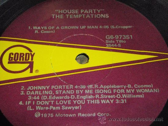 Discos de vinilo: THE TEMPTATIONS ( HOUSE PARTY ) USA - 1975 LP33 MOTOWN RECORDS - Foto 4 - 35579042