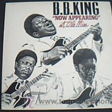 Discos de vinilo: * 2 LPS VINILO NOW APPEARING AT OLE MISS. B.B. KING. MCA 1980. Lote 35589193