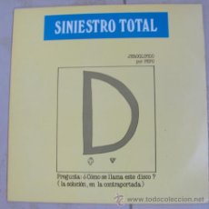 Discos de vinilo: SINIESTRO TOTAL - GRANDES EXITOS - LP DE 1986. Lote 35593165