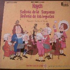Discos de vinilo: HAYDN-SINFONIA DE LA SORPRESA-SINFONIA DE LOS JUGUETES-ORQUESTA SINFONICA GRAUNKE-HISPAVOX 1970. Lote 35599311
