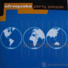 Discos de vinilo: MAXI - AFROQUAKE - PARTY PEOPLE (FOUR VERSION) (SPAIN, PARKING RECORDS 1997). Lote 35601282