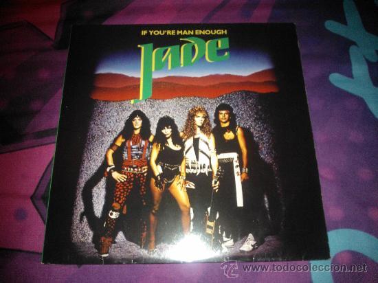 LP HEAVY 1985 - JADE - IF YOU´RE MAN ENOUGH (Música - Discos de Vinilo - EPs - Heavy - Metal)