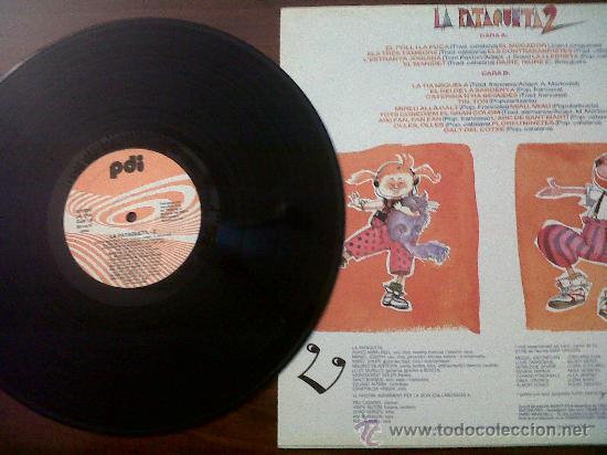 Discos de vinilo: LA RATAQUETA 2-PDI,S.A.1989-EL POLL I LA PUÇA-ELS TRES TAMBORS-LA TIA MIQUELA-EL REI DE LA SARDENYA - Foto 2 - 35598904
