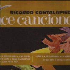 Discos de vinilo: LP-RICARDO CANTALAPIEDRA-ONCE CANCIONES-PAX 711-1970-PROD.MANOLO DIAZ-ARREG.JOSE NIETO-. Lote 35619700