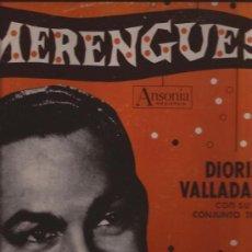 Discos de vinilo: LP-DIORIS VALLADARES Y CONJUNTO-MERENGUES-ANSONIA 1203-195???-USA. Lote 35619775