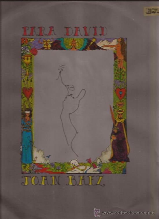 LP-JOAN BAEZ-PARA DAVID-HISPAVOX 47114-STEREO-1969 (Música - Discos - LP Vinilo - Country y Folk)