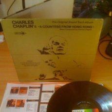 Discos de vinilo: CHARLES CHAPLIN / A COUNTESS FROM HONG KONG 1967 !! ORIG. EDIT. USA + LIBRETO !! EXCELENTE !!!!. Lote 35627497
