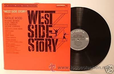 WEST SIDE STORY / LEONARD BERNSTEIN 1961 !! RARA 1ªEDIC. ORIG USA MASTERWORKS !! (Música - Discos - LP Vinilo - Bandas Sonoras y Música de Actores )