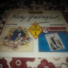 Discos de vinilo: DOBLE LP ROCK 1989 - RORY GALLAGHER - TATTOO - BLUEPRINT. Lote 35661133