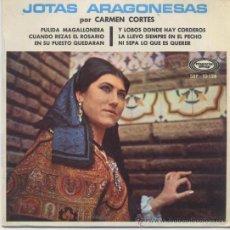 Discos de vinilo: CARMEN CORTES,JOTAS ARAGONESAS DEL 68. Lote 35664622