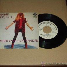 Discos de vinilo: ANNE BERTUCCI SINGLE NUMBER ONE CONTENDER PROMOCIONAL LABEL BLANCO. Lote 35664807