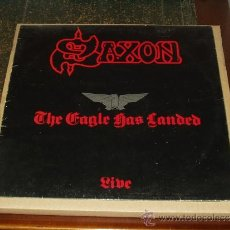 Discos de vinilo: SAXON LP THE EAGLE HAS LANDED LIVE. Lote 35664976
