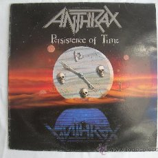 Discos de vinilo: ANTHRAX // PERSISTENCE OF TIME. Lote 35671772
