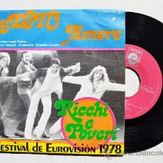 Discos de vinilo: RICHI E POVERI - QUESTO AMORE/ANIMA (NOVOLA SINGLE 1978) ESPAÑA. Lote 35672124