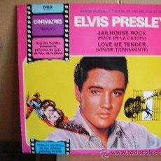 Discos de vinilo: ELVIS PRESLEY --- JAILHOUSE ROCK - LOVE ME TENDER. Lote 35674240