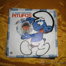 Discos de vinilo: EL PADRE ABRAHAM Y SUS PITUFOS. VEO, VEO / PITUFO BARBARROJA. DISCO PROMOCIONAL 1980. Lote 35675923