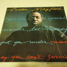 Discos de vinilo: CURTIS MAYFIELD ( NEVER SAY YOU CAN'T SURVIVE ) USA - 1977 LP33 WARNER BROS RECORDS. Lote 35698172