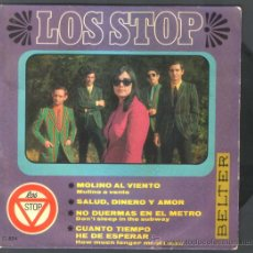 Discos de vinilo: .1 SINGLE DE ** LOS STOP ** MOLINO AL VIENTO - SALUD DINERO Y AMOR ** - AÑO 1967 - BELTER. Lote 35702580
