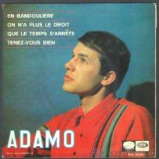 Discos de vinilo: .1 DISCO DE ** ADAMO ** EN BANDOLERA ** - AÑO 1966 - LA VOZ DE SU AMO. Lote 35702638