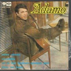 Discos de vinilo: .1 DISCO DE ** ADAMO ** NUESTRO ROMANCE - JUNTOS ** - AÑO 1967 - LA VOZ DE SU AMO. Lote 35702678