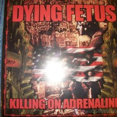 Discos de vinilo: LP DYING FETUS - KILLING ON ADRENALINE - LIMITED EDITION - BRUTAL DEATH METAL. Lote 35702964