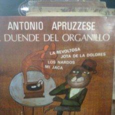 Discos de vinilo: ANTONIO APRUZZESE - EL DUENDE DEL ORGANILLO (EP, FIDIAS, 1968). Lote 35715773