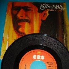 Discos de vinilo: DISCO DE VINILO, SANTANA TOMA Y DA 1975 CBS. Lote 35719834