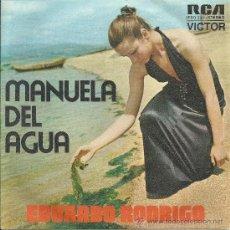 Discos de vinilo: EDUARDO RODRIGO-SINGLE MANUELA DEL AGUA-NUEVO. Lote 35720531