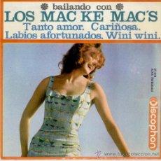 Discos de vinilo: LOS MAC KE MAC'S - CARIÑOSA - WINI WINI + 2 - EP SPAIN 1964 EX / EX. Lote 35737345