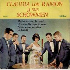 Discos de vinilo: CLAUDIA ( CON RAMON Y SUS SCHOWMEN ) - MARIONETAS EN LA CUERDA + 3 - EP SPAIN 1967 VG++ / VG++. Lote 35737716