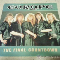Discos de vinilo: EUROPE ( THE FINAL COUNTDOWN - ON BROKEN WINGS ) 1986-HOLANDA SINGLE45 EPIC. Lote 35739651