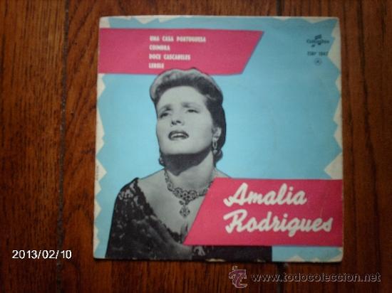AMALIA RODRIGUES - UNA CASA PORTUGUESA + 3 (Música - Discos de Vinilo - EPs - Étnicas y Músicas del Mundo)