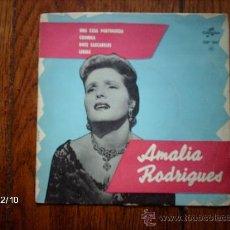 Discos de vinilo: AMALIA RODRIGUES - UNA CASA PORTUGUESA + 3. Lote 35768682