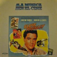 Discos de vinilo: ELVIS PRESLEY - LOVE ME TENDER / JAILHOUSE ROCK - LP CON LAS BANDAS SONORAS DE LAS 2 PELICULAS. Lote 35749080