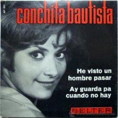 Discos de vinilo: CONCHITA BAUTISTA. HE VISTO UN HOMBRE PASAR/ AH GUARDA PA CUANDO NO HAY. BELTER, ESP. 1966 SINGLE. Lote 35762729