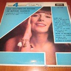 Discos de vinilo: RONNIE ALDRICH LP LOS PIANOS MAGNÍFICOS DECCA 4 FASES ESPAÑA 1963. Lote 35762752