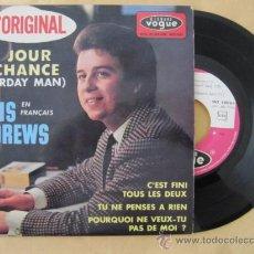 Discos de vinilo: CHRIS ANDREWS TON JOUR DE CHANCE (YESTERDAY MAN) EN FRANCÉS. EP RARO Y DIFICIL DE ENCONTAR.. Lote 35764732