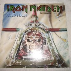 Discos de vinilo: IRON MAIDEN / ACES HIGH / EDICION ESPAÑOLA / EMI 1984. Lote 35765100