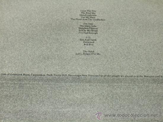 Discos de vinilo: WHO LP DOBLE+ LIBRETO QUADROPHENIA FIRST PRESS CENSURED . VERY RARE - Foto 3 - 35787142