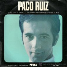 Discos de vinilo: PACO RUIZ CON LOS LENTOS EP SELLO PRESA AÑO 1969. Lote 35788105