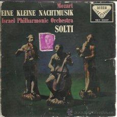 Discos de vinilo: MOZART - EINE KLEINE NACHTMUSIK - SOLTI - SINGLE DECCA 1959. Lote 35790191