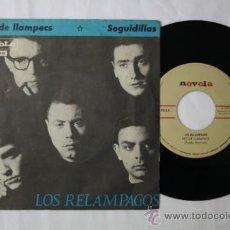Discos de vinilo: SINGLE LOS RELAMPAGOS - NIT DE LLAMPECS / SEGUIDILLAS - NOVOLA DEPOSITO 1965. Lote 35793068