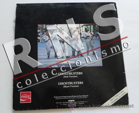 Discos de vinilo: CAZAFANTASMAS GHOSTBUSTERS - VERSIÓN LARGA - DISCO VINILO MAXI-SINGLE MÚSICA BSO CINE COCA COLA - Foto 2 - 35794398