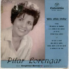 Discos de vinilo: PILAR LORENGAR - PAVANA - TRES MORILLAS ME ENAMORAN - ETC - EP SPAIN 1961 VG/ VG++. Lote 35797381
